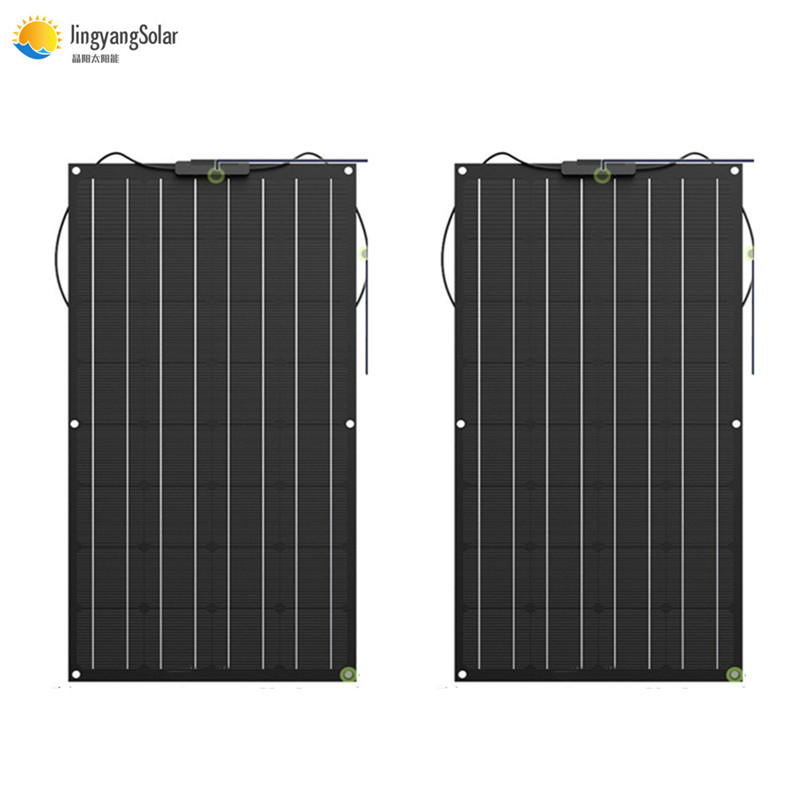 100W 200W 300W 400W etfe Solar Panel Flexible Monocrystalline Silicon Solar Panel for Outdoor Cycling, Climbing, Hiking, Camping image