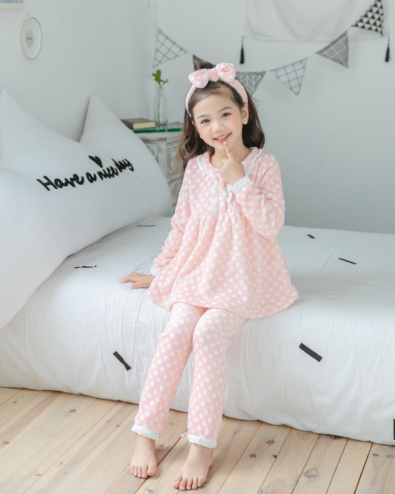 Girl's Warm Flannel Princess Pajamas