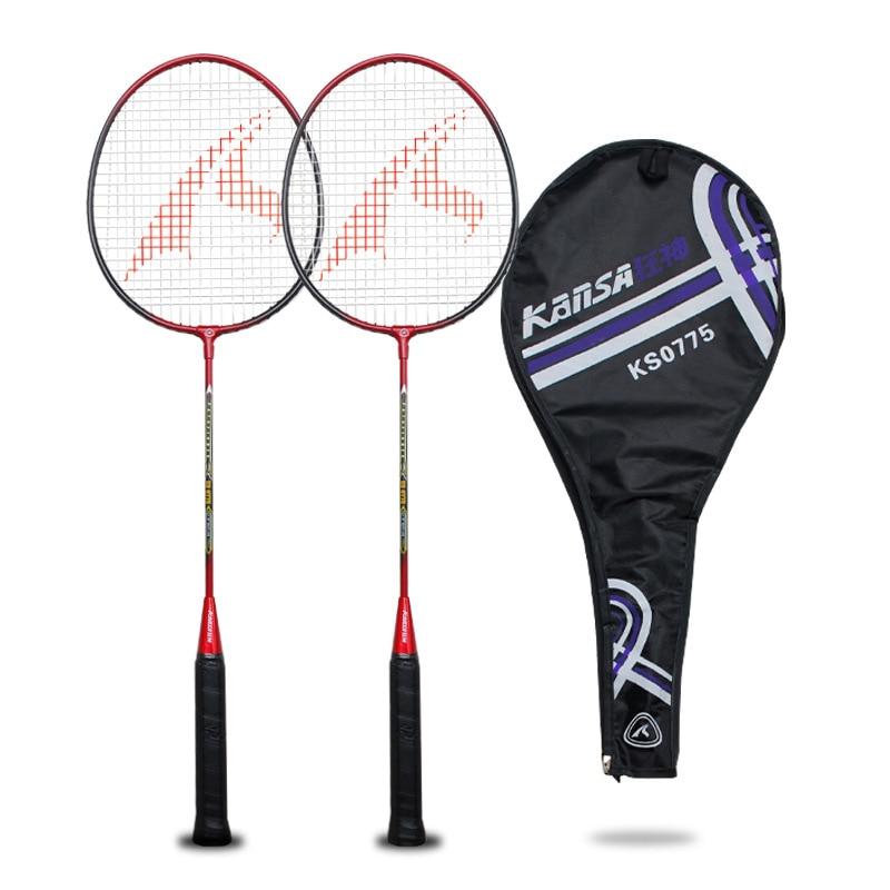 Sporting Goods Badminton Racket Double Shot Adult Badminton Racket Set Amateur Junior Use Outdoor Sports Badminton Racquet