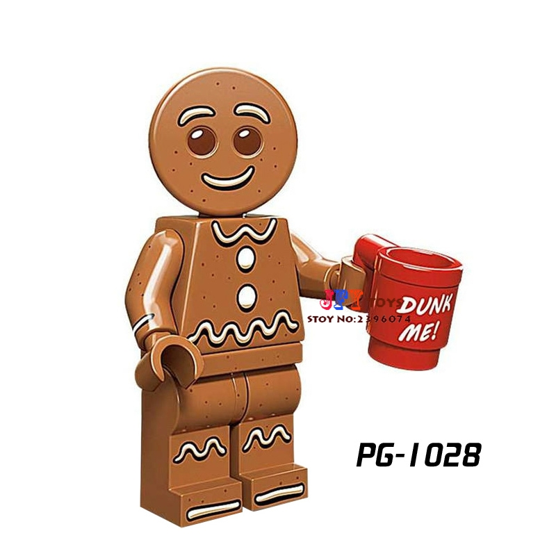 Single super heroes Series Gingerbread Man collectible building blocks models bricks hobby toys for children kits image