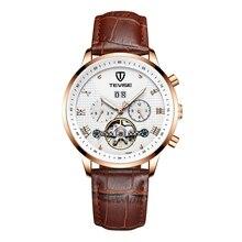 купить 2019 New Watch Men Fashion Sport Quartz Clock Men Watch TEVISE Brand Luxury Leather Business Waterproof Watch Relogio Masculino дешево