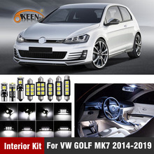 12 Pcs Canbus Led Bulb Car Interior Light Kit For Volkswagen VW GOLF MK7 2014-2019 Dome Map Lighting Car Accessories bjmycyy free shipping car trunk handle metal light box for vw volkswagen golf mk7 2014