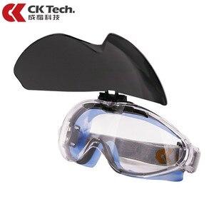 Image 1 - CK טק. בטיחות משקפי מגן שקוף נגד השפעה טקטי משקפיים רכיבה אופניים אנטי ערפל משקפיים מגן עבודה עיניים הגנה