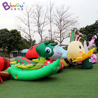 3*2*2 m inflatable green big worm custom made caterpillar model balloon for displaying item