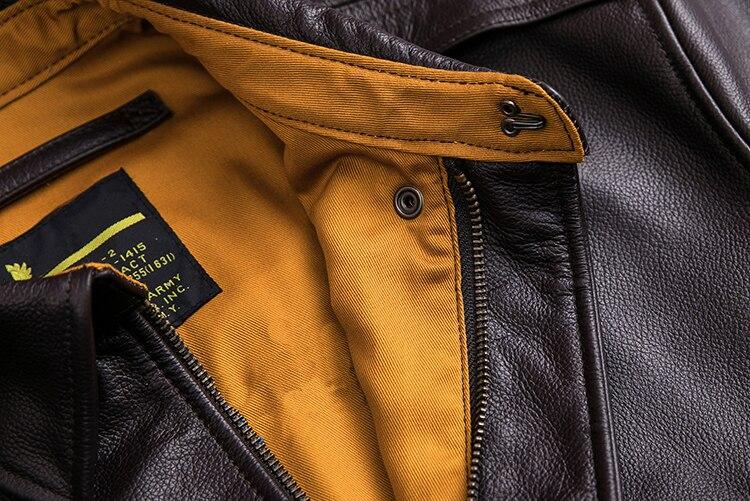 H738b041f0f3746649cc3dea627d4ad89o MAPLESTEED Men Leather Jacket Military Pilot Jackets Air Force Flight A2 Jacket Black Brown 100% Calf Skin Coat Autumn 4XL M154