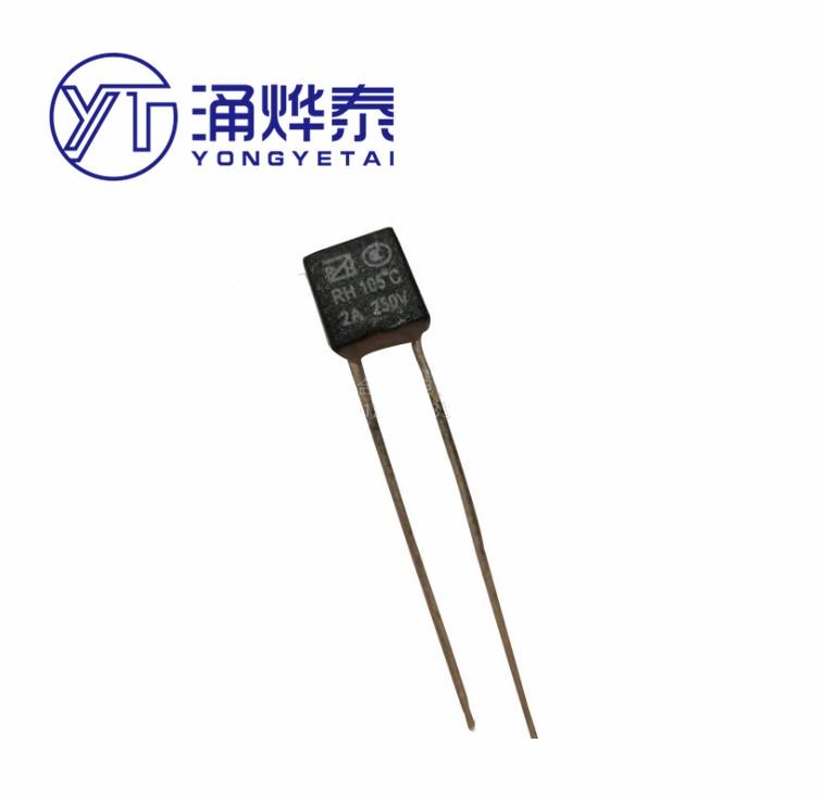YYT 10PCS RH thermal fuse square fan motor 1A 2A RH 2A130 120 125 145 135 75 115 85 150 98 1A140 1A130 3A125 5A130 degrees