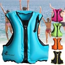 Life Vest Adult Inflatable Swim Vest Life Jacket Snorkeling Floating Swimming Surfing Water Sports Life Saving Jacket Adult