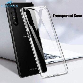 Перейти на Алиэкспресс и купить Прозрачный мягкий ТПУ чехол для Sony Xperia 10 ii 10 Plus L3 L4 силиконовый прозрачный чехол для Xperia 1 ii XA1 XA2 XA3 XZ1 XZ3 XZ4 Coque
