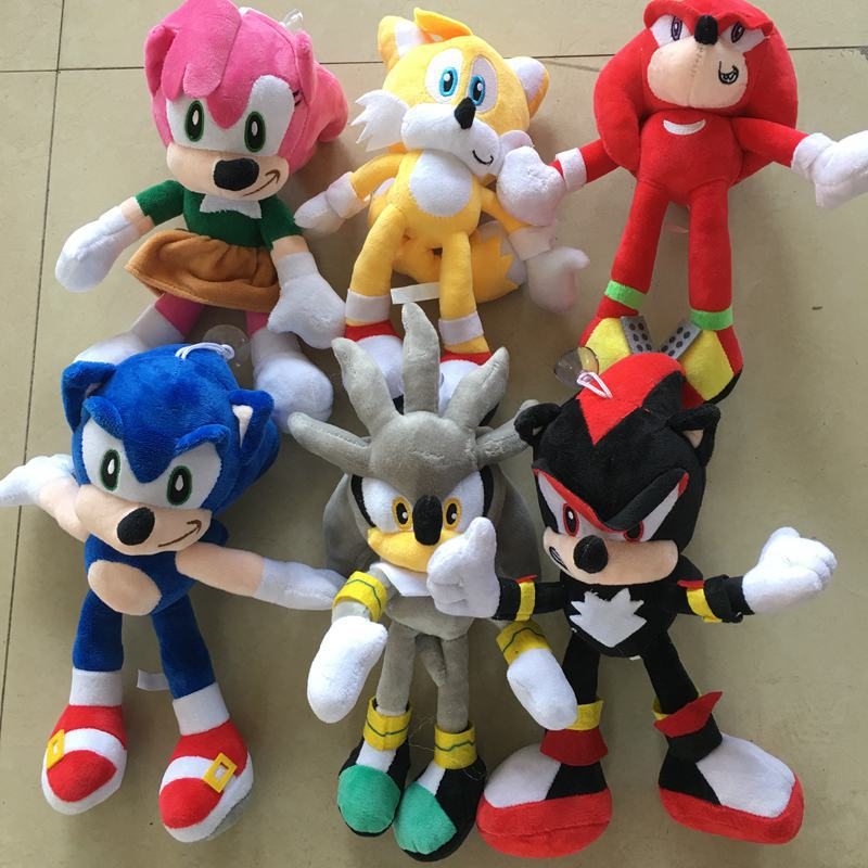 8 Styles Sonic <font><b>Plush</b></font> Doll Toy Black <font><b>Blue</b></font> Yellow Sonic <font><b>Plush</b></font> Soft PP Cotton Stuffed Toy Hot Game Doll For Children Christmas Gift image