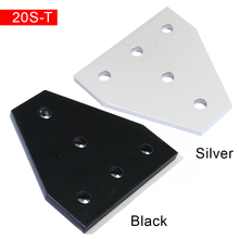 2020 5 Hole 90 Degree Joint Board Plate Corner Angle Bracket Connection Joint Strip for 2020 Aluminum Profile 3D Printer Frame
