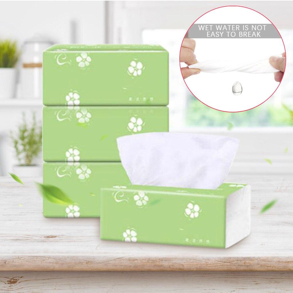 Log Pumping Paper 3Packs Tissue Paper Napkin Towels Household Toilet Paper  M18#35