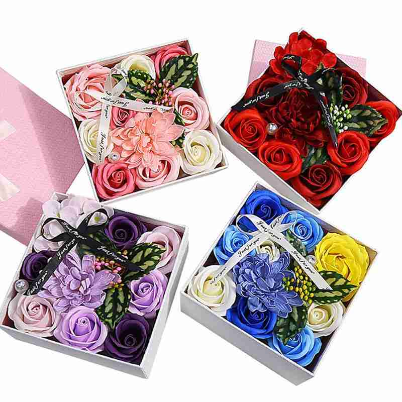 Rose Flower Soap Gift Box Never Withered Artificial Rose Flower Soap For Mothers Day Valentine's Day Birthday Anniversary Gift