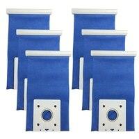 6 pçs/lote Filtro de Aspirador de pó Sacos de Pó DJ69 00420B para Samsung DJ69 00420B VC 6025V SC Aspirador de pó Saco de Pó|Peças p/ aspirador de pó| |  -