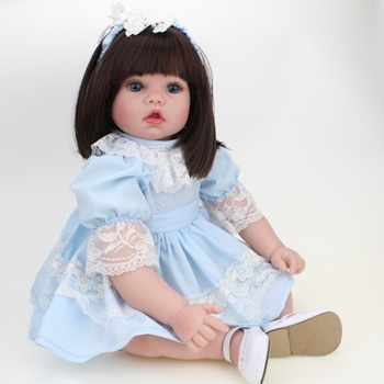 Reborn Doll Silicone Gril 50CM Reborn Realistic Silicone Vinyl Doll Newborn High-grade Acrylic Eyes For Children Gifts Playmates