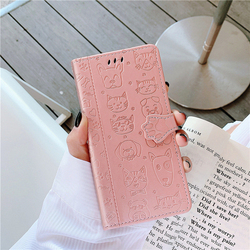 Cat & Dog Pattern Phone Case For Huawei Nova 5T Leather Case For Huawei Nova 5T Cover Case For Huawei Nova 5 T 6.26
