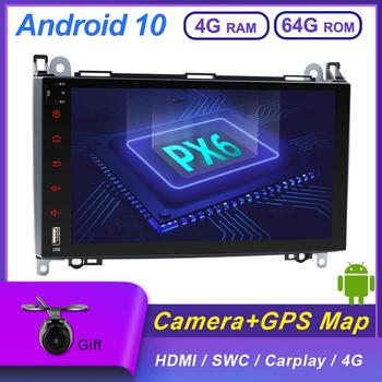 2 Din Android 10 Car Stereo Autoradio GPS Receiver For Mercedes Benz B200 A B Class W169 W245 Viano Vito Sprinter PX6 4G RAM+64G image