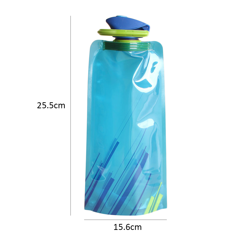 H738c239c83c94c05b4f06f757a0fbb56m 700ml Water Bottle Bags Environmental Protection Collapsible Portable Outdoor Foldable Sports Water Bottles For Hiking Camping