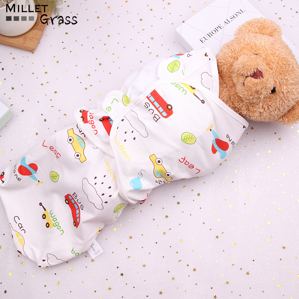 0-6-12 Months Baby Swaddles 100% Cotton Soft Blanket Baby Summer Organic Cotton Baby Wrap Sleeping Bags