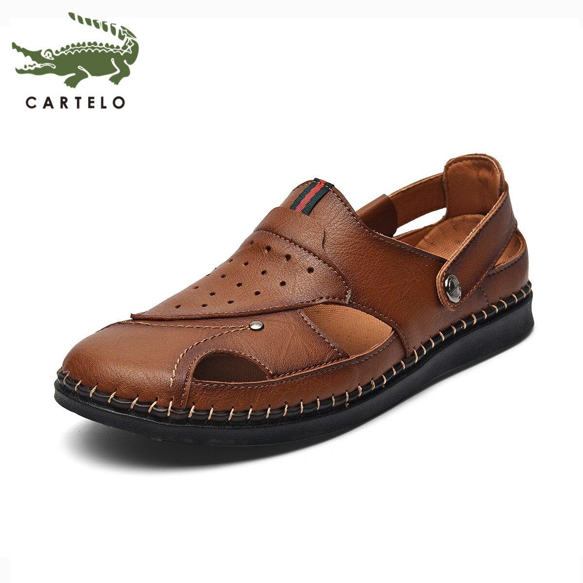 CARTELO men's shoes summer new men's beach shoes men's wear-resistant breathable non-slip Baotou shoes men