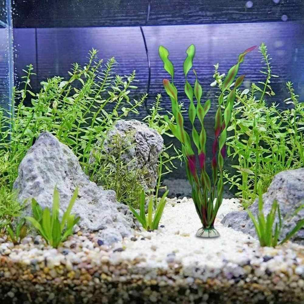 Serbatoio di pesci D'acquario Decorazione Ornamenti Viola Verde Artificiale di Plastica Acquatica Subacquea Acqua Erba Pianta di Paesaggio Della Decorazione