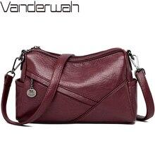 Bolso de mano Vintage de cuero suave para mujer, bandolera pequeña de lujo, bandolera cruzada