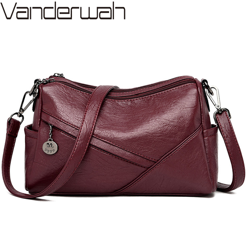 Vintage Soft Leather Ladies Hand Bags Women Shoulder Bag Luxury Small Handbags Sac A Main Women Crossbody Messenger Bag Mochilas