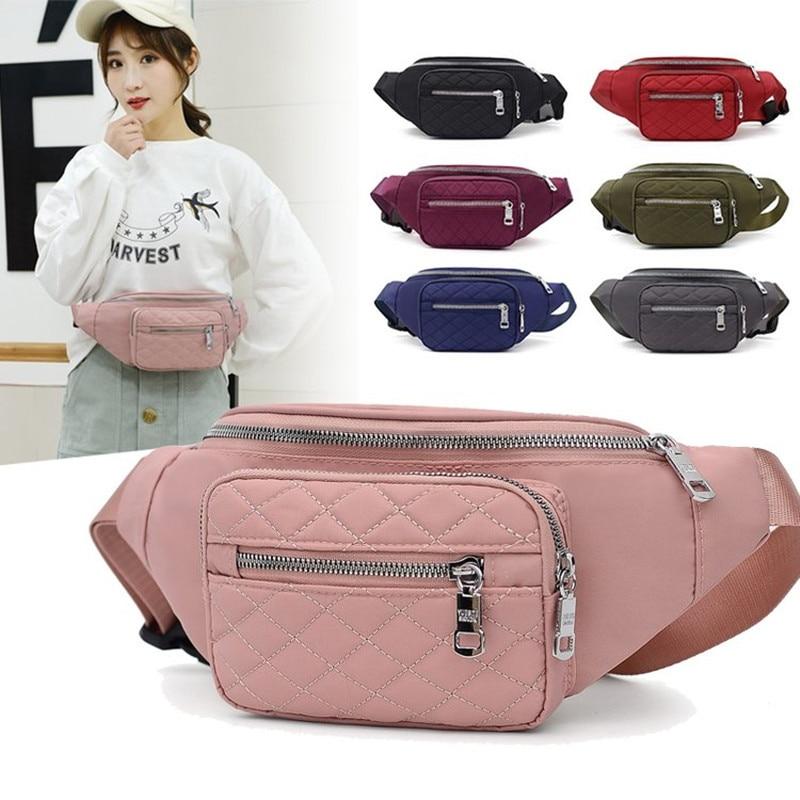 Vento Marea Waist Pack For Women 2020 New Casual Nylon Waterproof Chest Handbag Pillow Belt Shoulder Bag Sport Travel Red Purses
