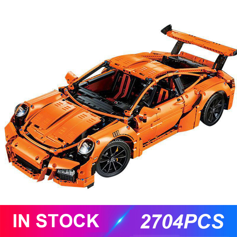 LepinBlocks 20001 Super Racing Car Model Compatible Technic 42056 Building Blocks Bricks App RC Remote Control Car Toys Gift