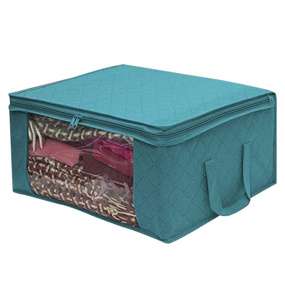 Складной тканевый ящик для хранения грязной одежды, чехол на молнии для игрушек, стеганая коробка для хранения, прозрачный влагостойкий Органайзер - Цвет: G226564A