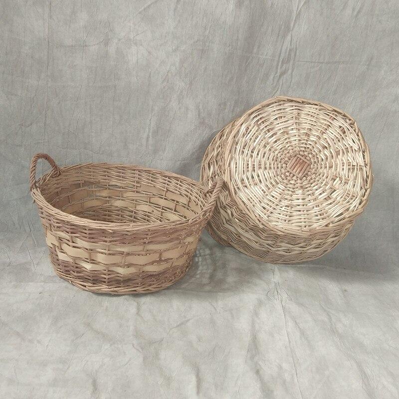 Children photography props newborn baby full moon photo basket 100 days baby basket door photo props