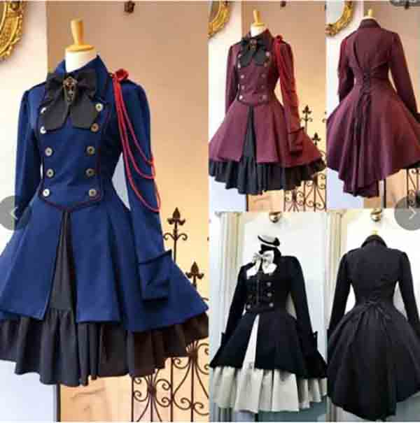Grande taille 5XL gothique Lolita robe victorienne médiévale Vintage rouge violet noir robe Halloween Costume pour les femmes grande taille 4XL