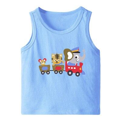 VIDMID Summer Children T-Shirts for Boys Girls T-shirt Kids Cotton sleeveless Tanks Baby Tees Kids vests Girls Tops tank 4150 05 6