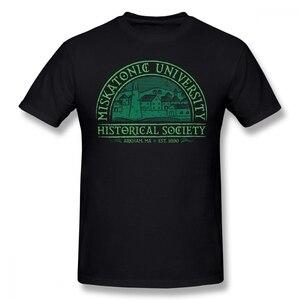 Arkham Horror T Shirt Miskatonic Historical Society T-Shirt Man Cotton Tee Shirt Cute Oversized Printed Short-Sleeve Tshirt(China)