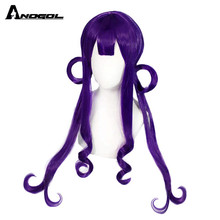 Cosplay Wig ANOGOL Anime Party Natural-Wave Purple Long Synthetic Women for Halloween