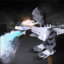 Dinosaur Robot Toy Model-Toys Gift Light-Sound Walking-Spray Kids with Boys Large-Size