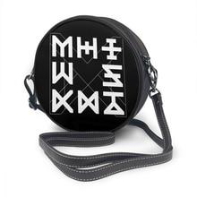 Monsta X حقيبة كتف Monsta X شعار جمالي حقيبة جلدية الطالب Crossbody حقائب النساء تتجه عالية الجودة الزفاف محفظة مستديرة