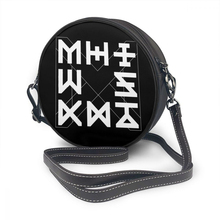 Monsta X bolso de hombro con logotipo estético para mujer, bandolera de cuero con Logo estético, bolso redondo de boda de alta calidad