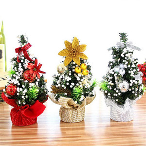 20cm Mini Christmas Decoration Tree Festival Desktop Decoration Small Tree Tree Festival Party Decoration for Home New Year#30