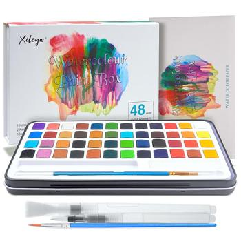 48-Color Solid Watercolor Paint Set 12 Glitter Metallic Gold Paint With 3 Water Brush Pens and 10 Sheets of Watercolor Paper defect detection on metallic and non metallic paint coating