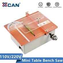 XCAN Mini Table Cutting Saw with 4''(110mm) Circular Saw Blade 110V 220V Electric Bench Saw DIY Cutting Tools