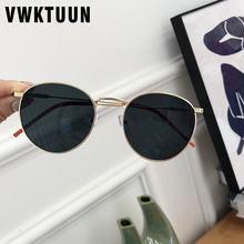 Женские солнцезащитные очки vwktuun круглые в металлической
