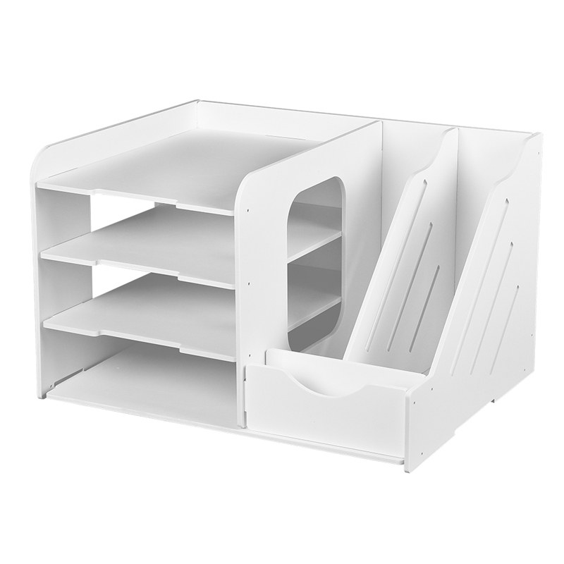 DIY Document Tray Desktop Multifunction Storage Box Pen Pencil File Holder Office Desk Organizer School Supplies