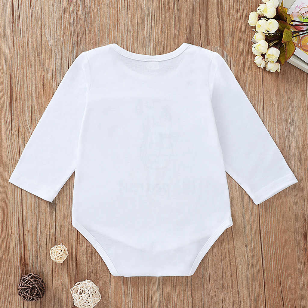 Fashion Winter Newborn Infant Baby Boys Girls Romper Long Sleeved Letter Printed Jumpsuit Body suit Outfits Clothes Costume#p4