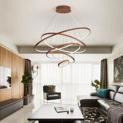 Minimalizm kreatywny DIY nowoczesne żyrandole do salonu jadalnia oświetlenie domu led żyrandol wiszące oświetlenie kuchni oprawy