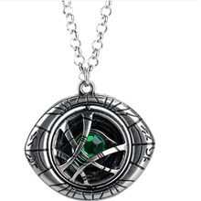 10pcs/lot Wholesale Avenger Doctor Strange Infinity Time Stones Necklace Keychain Figure Rotatable Men Doctor Strange Necklace