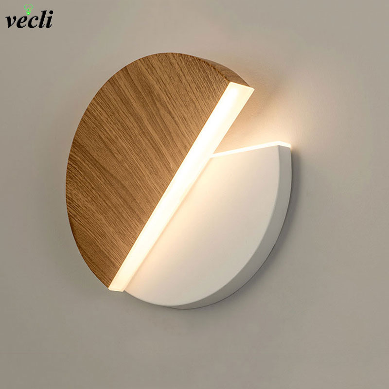 LED Wall Lamp 360 Degree Rotation Adjustable Bedside Lights White Black Creative Wall Lamp  Modern Bedroom Loft Aisle Lamp