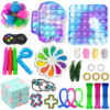 Squishy Fidget Toys Push Toy Square Antistress New Push Bubble Rainbow Poptoy For Hands Popins Pops Reliver Stress For Adults