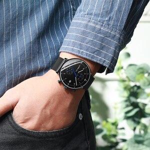 Image 5 - Mens Watch CRRJU di Lusso Top di Marca Degli Uomini In Acciaio Inox Orologio Da Polso Da uomo Militare impermeabile Data orologi Al Quarzo relogio masculino