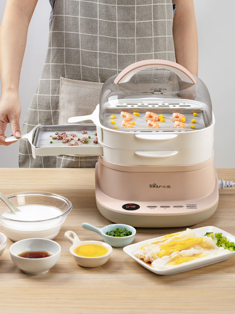 220V Electric Steaming Cooking Machine Drawer Type Intestine Powder Machine White Color Steamed Sausage Steamer EU/AU/UK/US