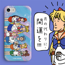 Hot Cartoon Sailor Moon Anime Serena Tsukino Sad Expression Phone Cover Christmas Gifts Phone Case for IPhone xs Cosplay Props(China)